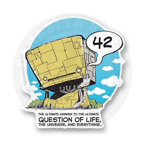 Стикер Ответ на самый главный вопрос<br>