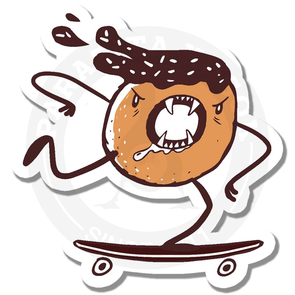 злой пончик катается на борде<br>
