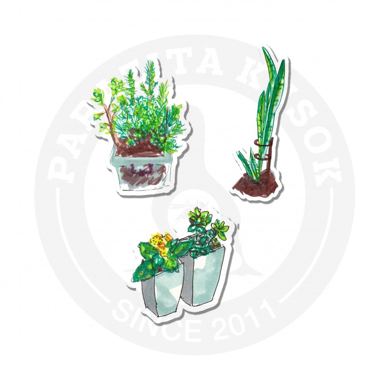 Наклейки Растения<br>