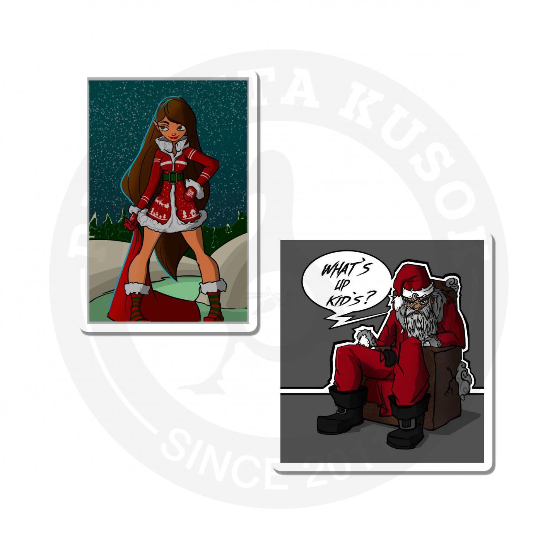 Наклейки Плохой Санта<br>