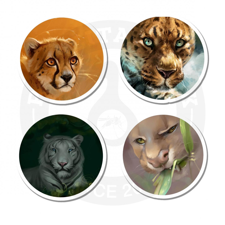 Наклейки Тигры<br>