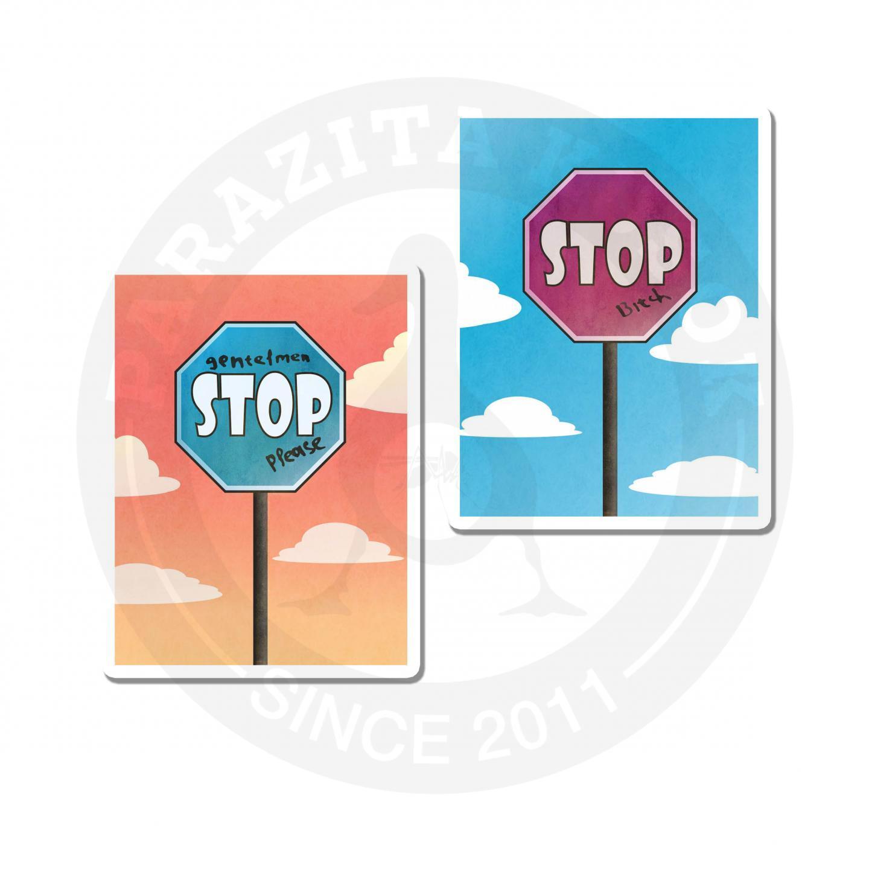 Наклейки Stop<br>