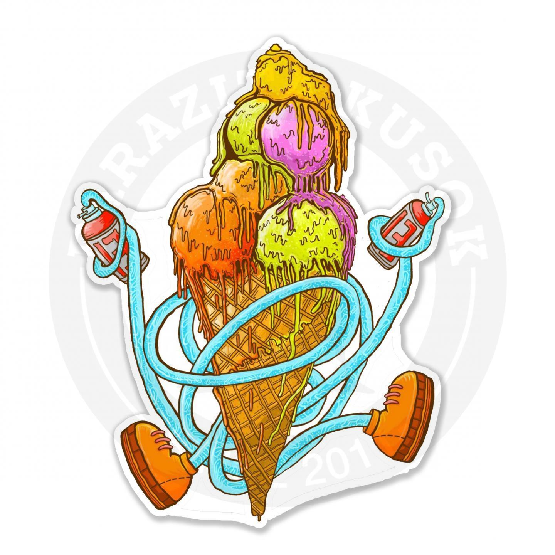 Граффити мороженое<br>