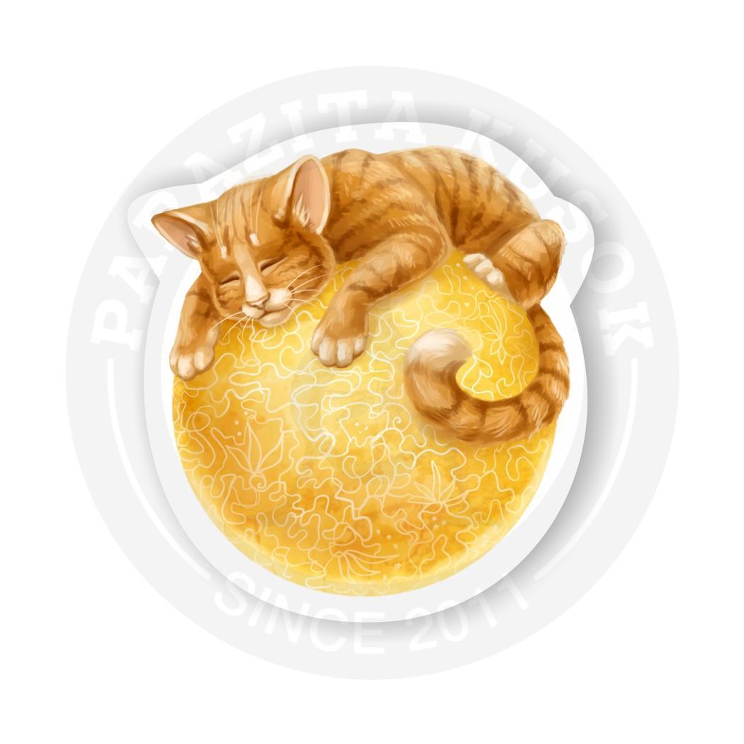 Наклейка Котик солнечный/Sticker Sun-cat<br>