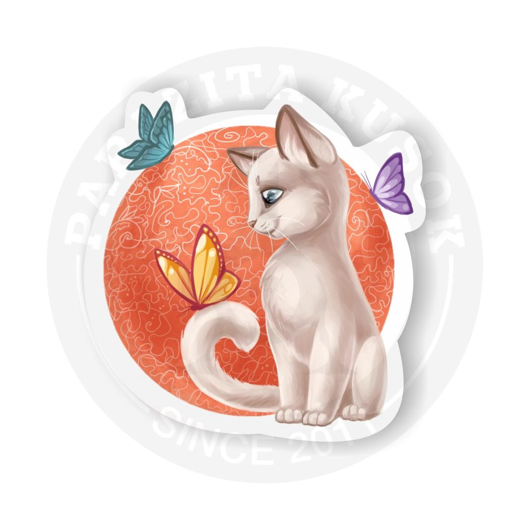 Наклейка Котик/Sticker Cat<br>
