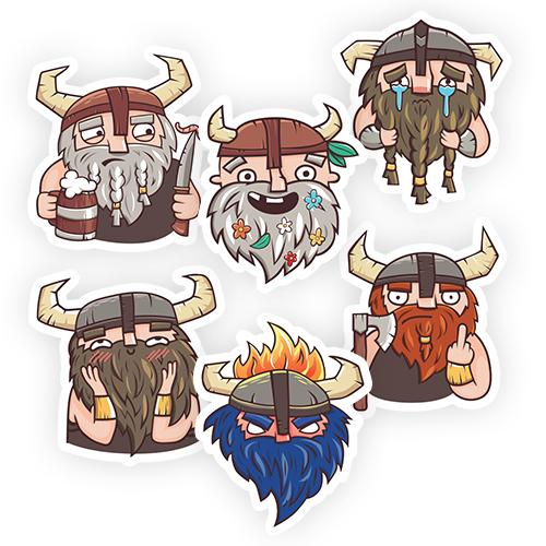 Наклейки Душевные Викинги/Stickers Spirit of Viking<br>