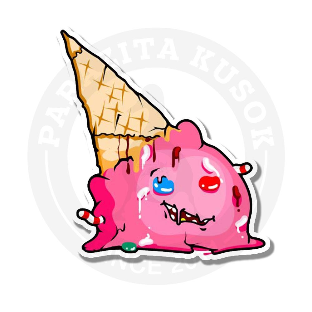 Наклейка Жуткая мороженка/Sticker Creepy Icecream<br>
