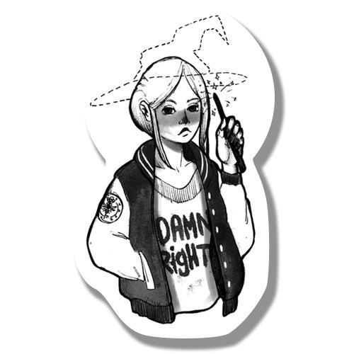 Наклейка Девочка-Ведьма/Sticker Witch Girl<br>