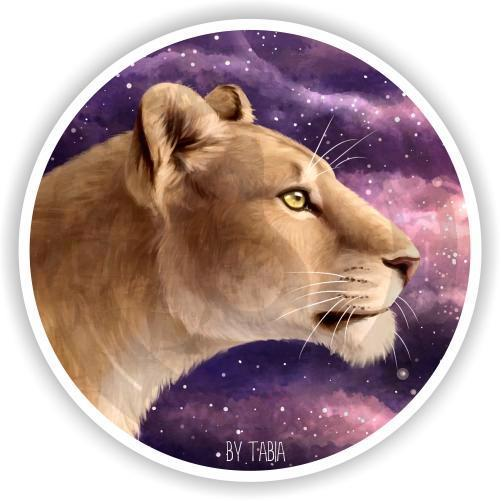 Наклейка Звездная львица<br>