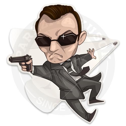 Наклейка Агент Смит, Матрица/Agent Smith, The Matrix<br>