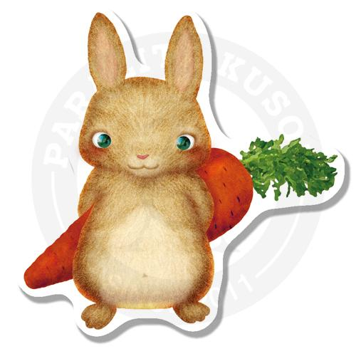 Наклейка Зайка с морковкой<br>