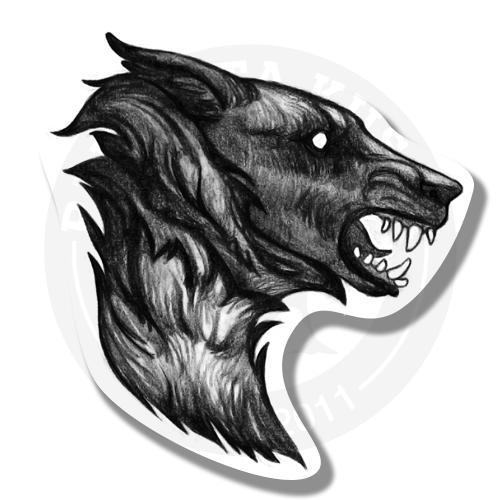 Наклейка Волк<br>