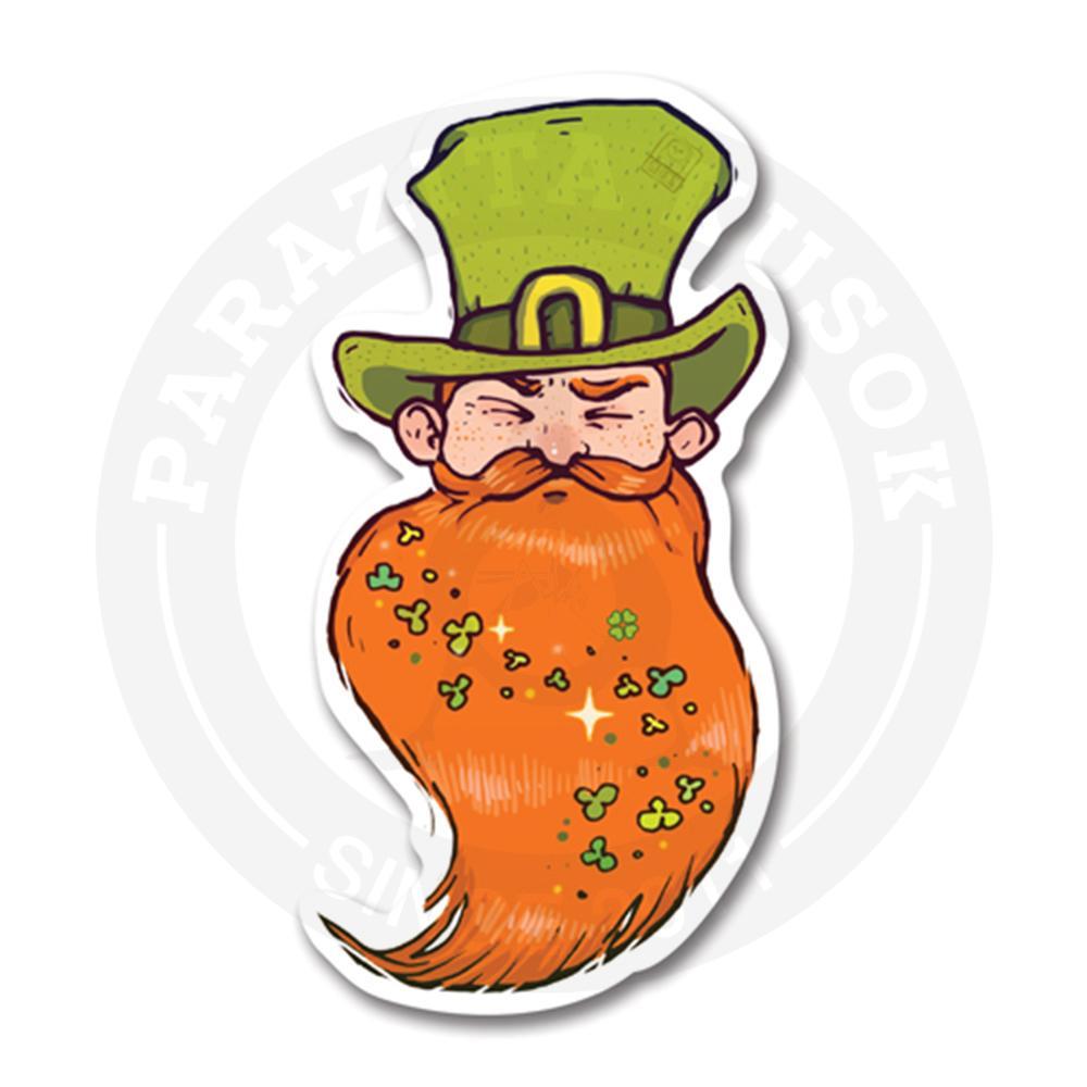 Наклейка Рыжая Борода /День Святого Патрика<br>