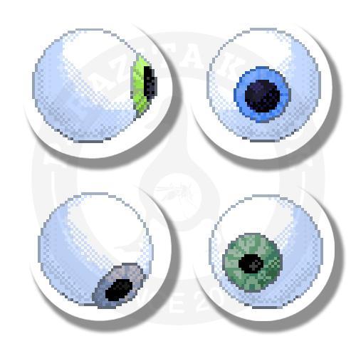 Наклейки Пиксельные Глазочки<br>