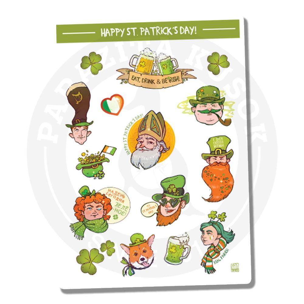 Наклейки Ко Дню Святого Патрика/St. Patricks Day<br>