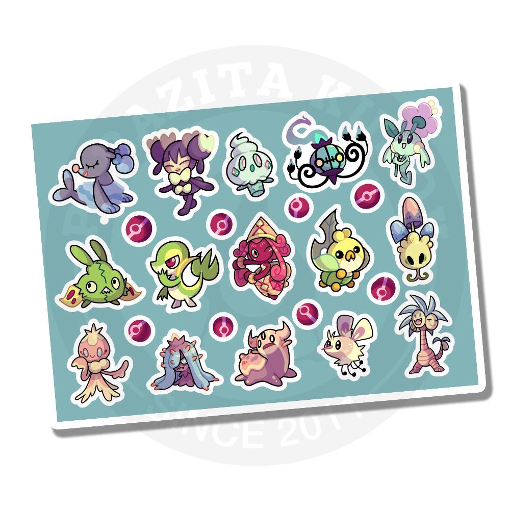 Наклейки Покемоны/Pokemon<br>