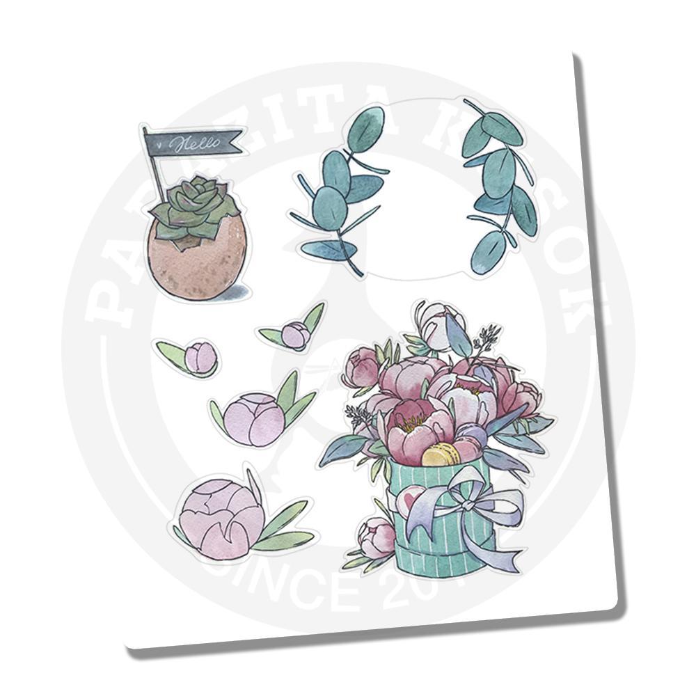 Наклейки Акварельные растения<br>