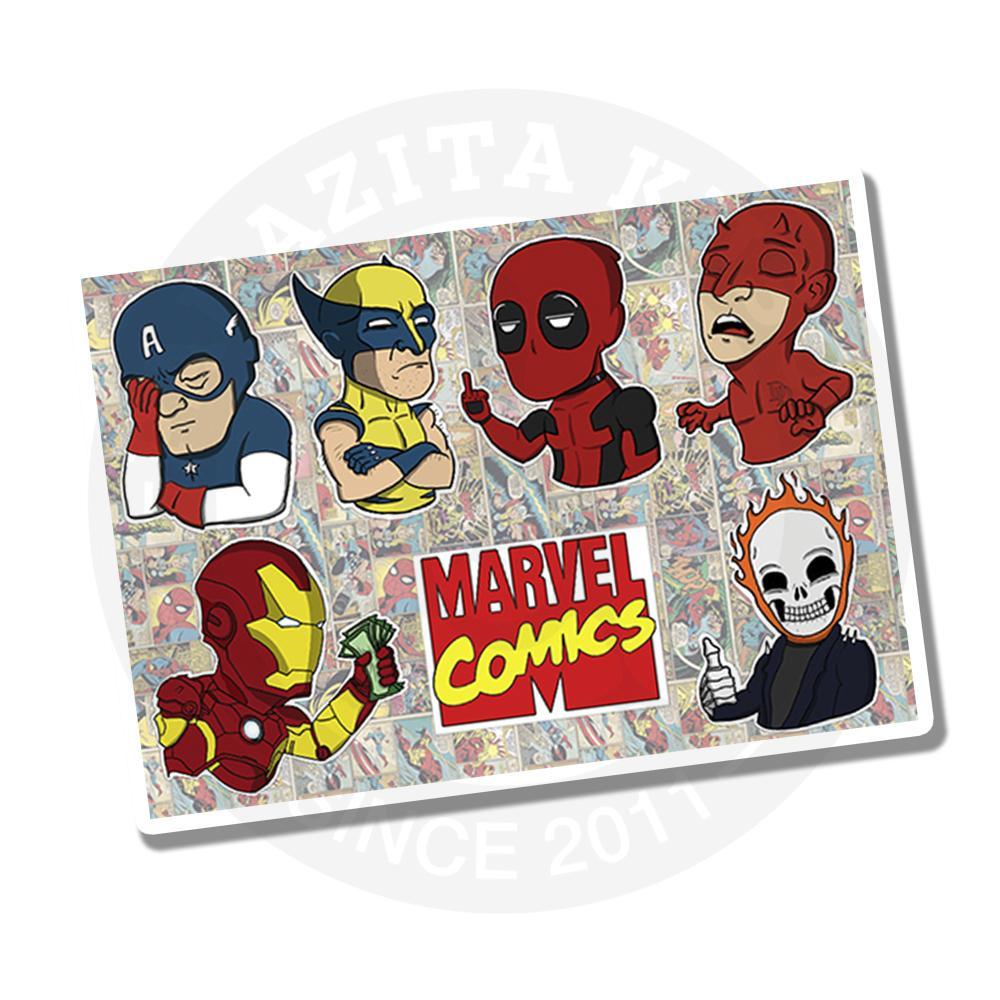 Наклейки Мемы Марвел / Marvel<br>