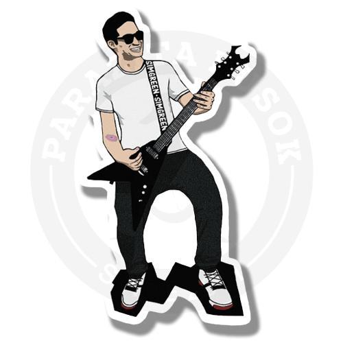 Наклейка Гитарист<br>