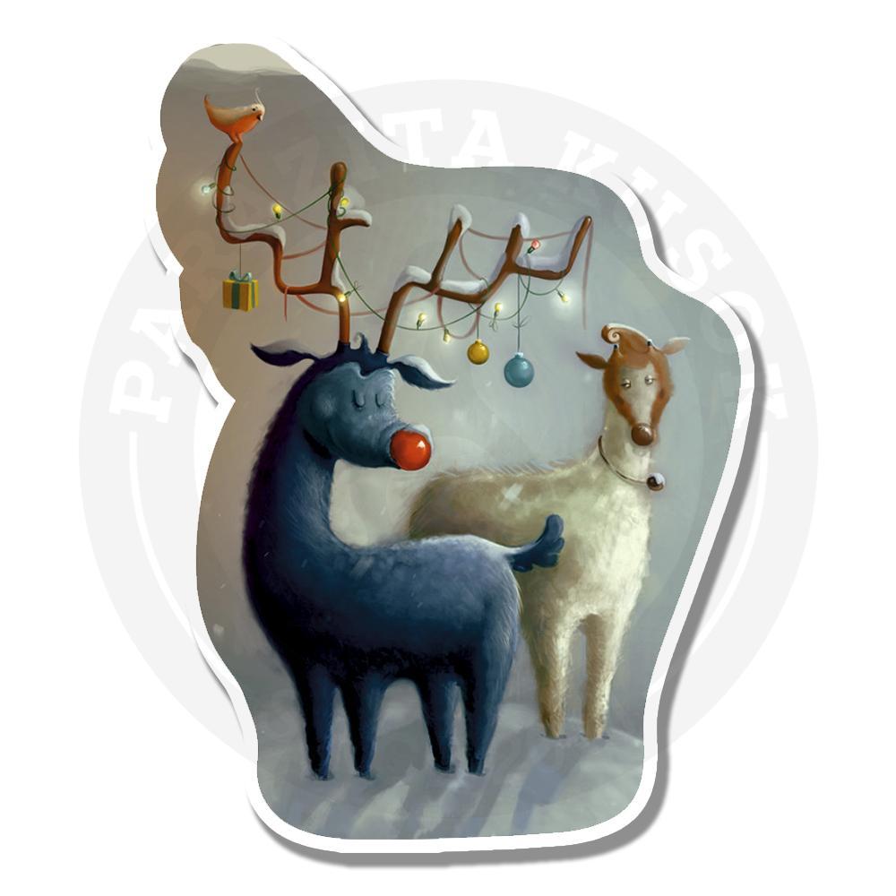 Зимние олени празднуют новый год<br>