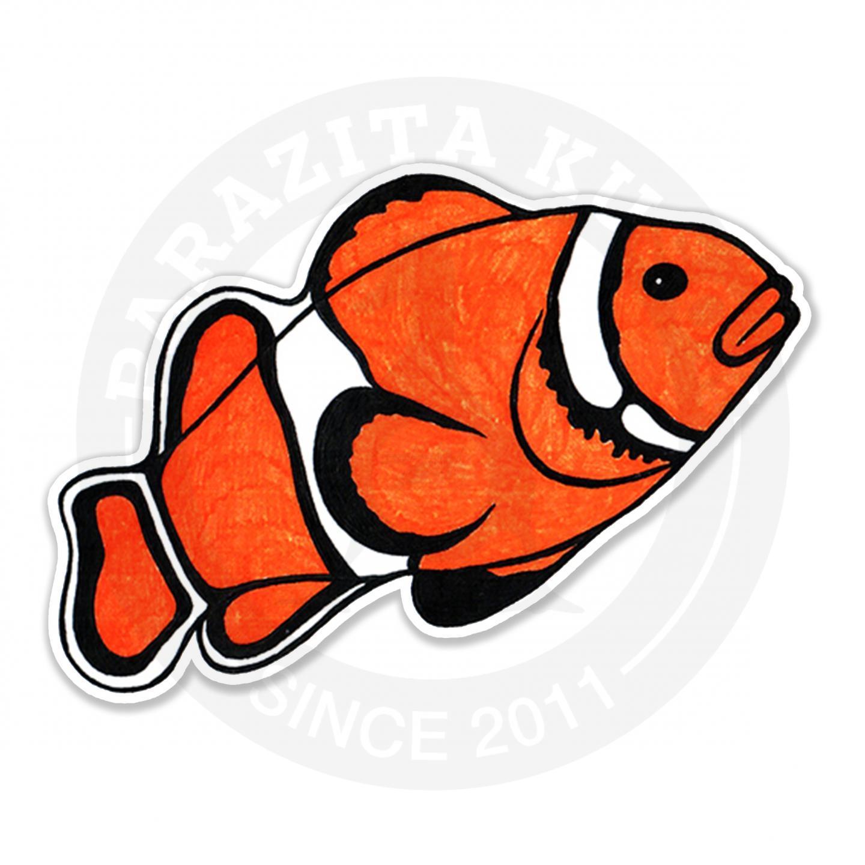 Яркая тропическая рыбка<br>