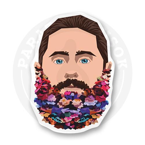 Стикер Весенняя борода Джея / Thirty Seconds to Mars<br>