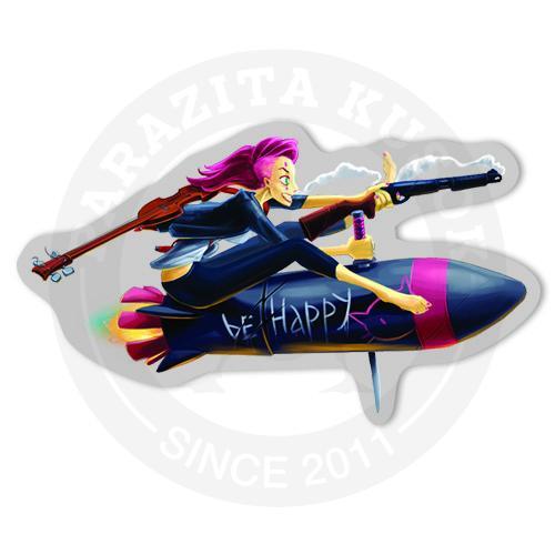 Девушка на ракете<br>