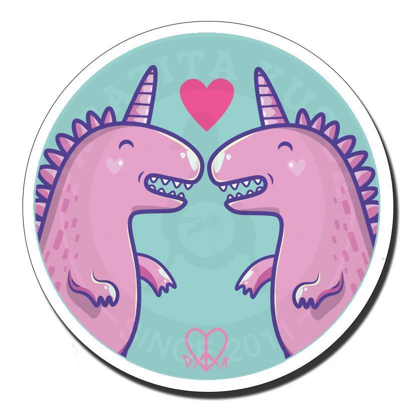 Влюблённые динозаврики<br>