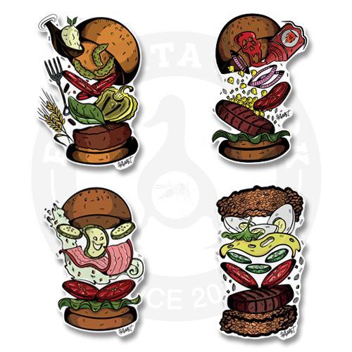Веселые бургеры<br>