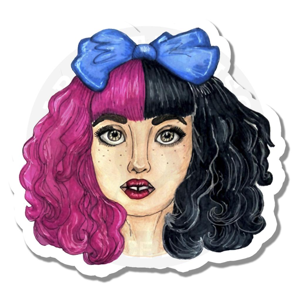Девушка с цветными волосами<br>