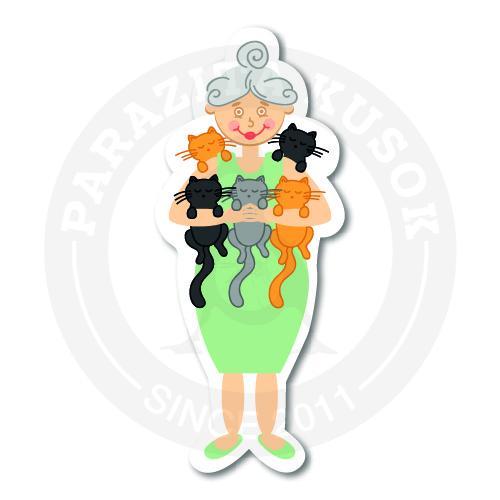 Бабуля с котиками<br>