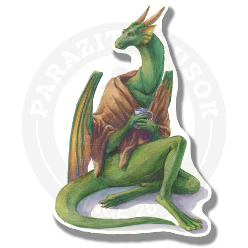 Дракон Ганимед укутался в плед<br>