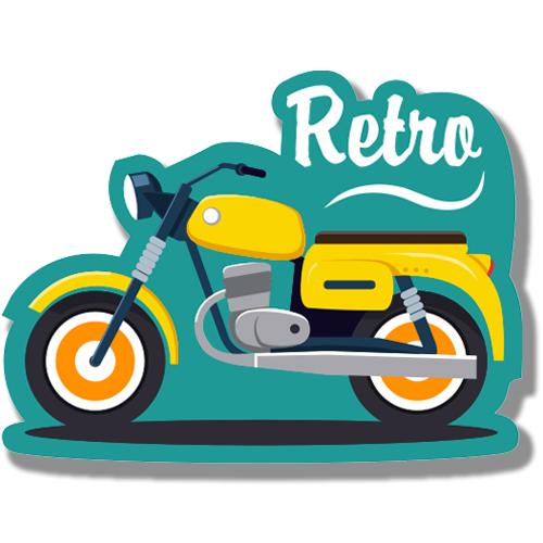 Ретро мотоцикл<br>