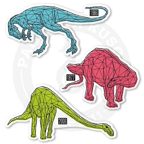 Набор полигональных динозавров<br>