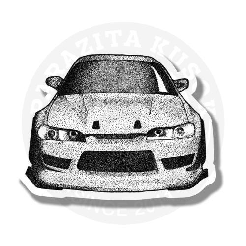 Машина в стиле dotwork<br>