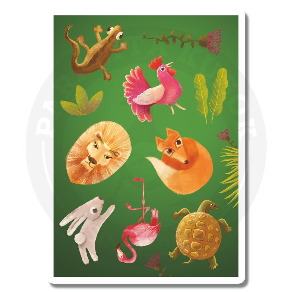 Стикерпейдж с животными и растениями<br>