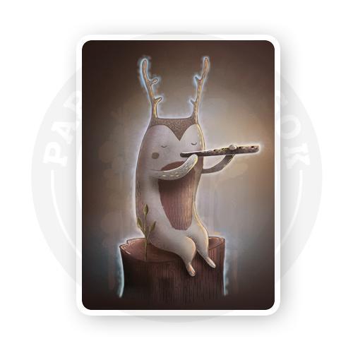 Дух, играющий на флейте<br>