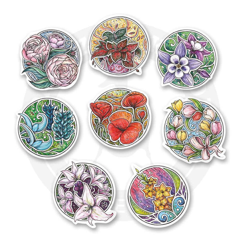 Набор стикеров Ботанический сад<br>