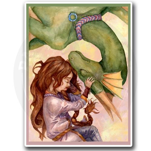 Дракон Ганимед и девочка с бородой Пипи<br>