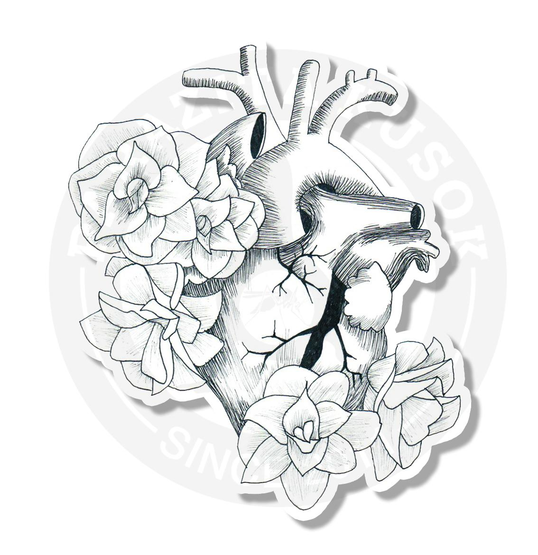 Сердце с цветами<br>