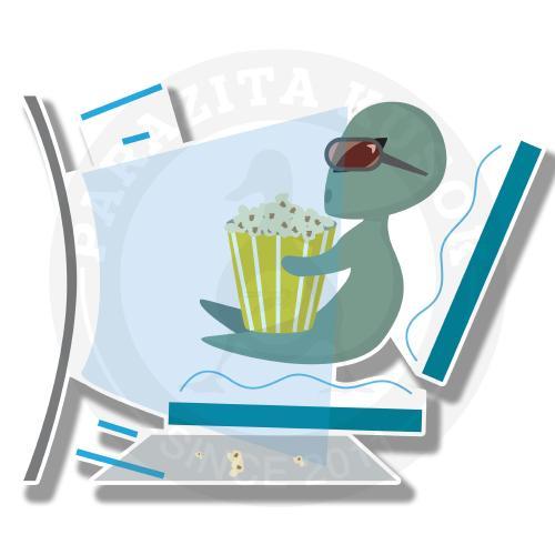 Инопланетянин смотрит кино<br>