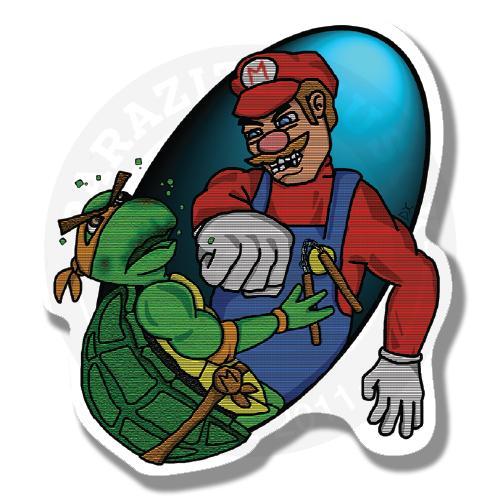 Марио против Микиланджело<br>