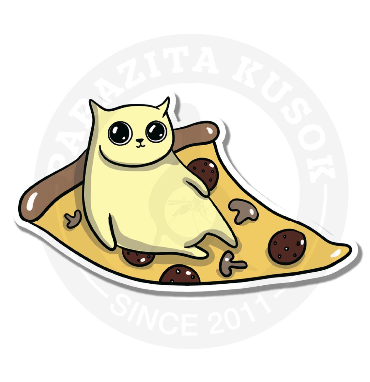Котик на пицце<br>