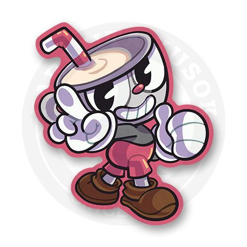 Стикер Персонаж из игры Cuphead<br>