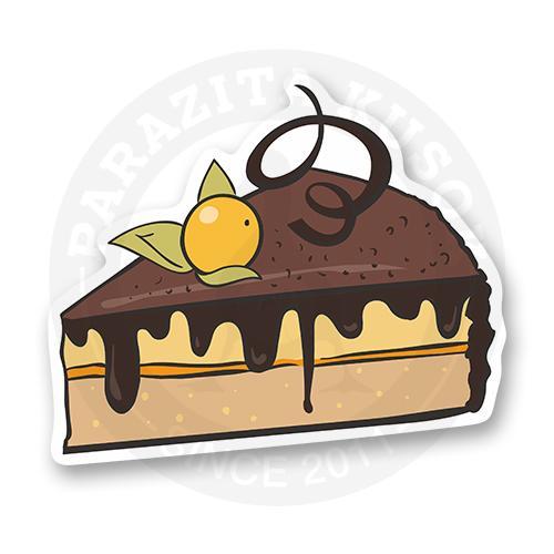 Сладкое шоколадное пирожное с ягодкой физалиса<br>