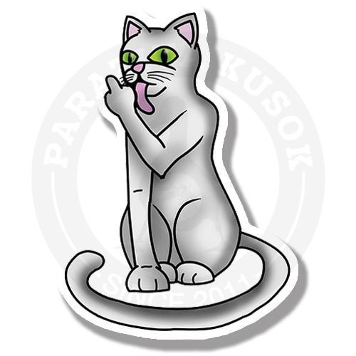 Белый кот пофигист<br>