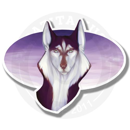 Фиолетовый хаски<br>