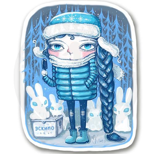 Снегурка с эскимо<br>