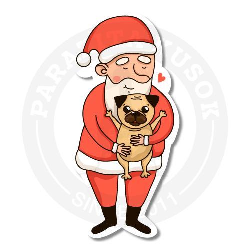 Дед мороз любит тискать собачек)<br>