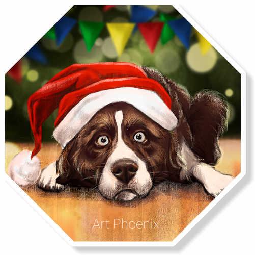 Пёс в ожидании Нового года<br>